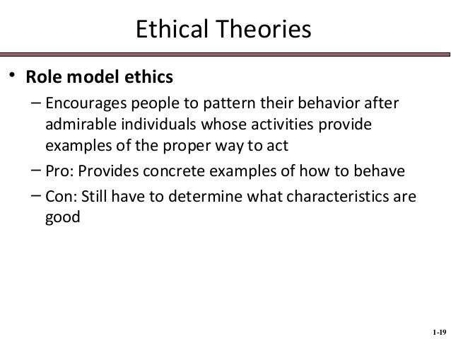 Role models influence ethical behavior