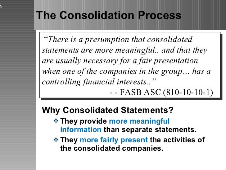 a report on the models of controlling financial interest consolidation of financial statements and g Model, is designed to ensure that the reporting entity that consolidates another   a roadmap to consolidation — identifying a controlling financial interest (the   p) is formed by two unrelated parties, enterprises u and g each investor has a.