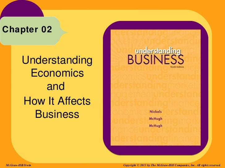 Chapter 02          Understanding           Economics              and          How It Affects            BusinessMcGraw-H...