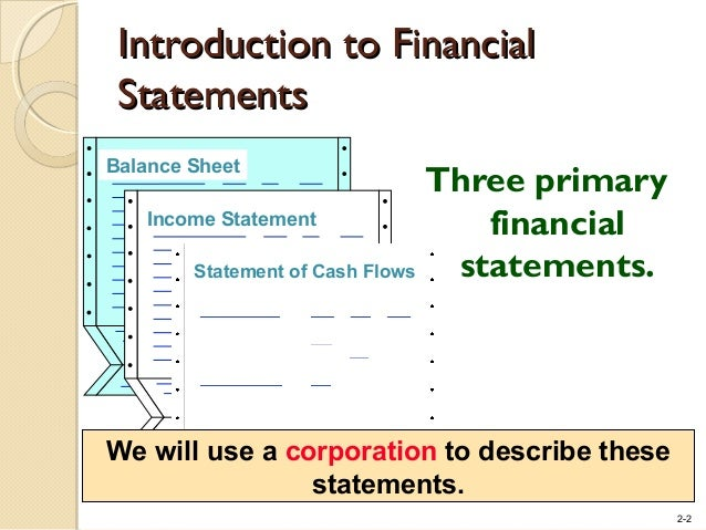 Basic Financial Statements – Financial Statements