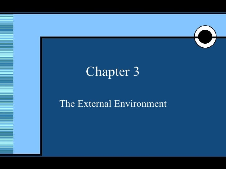 Chapter 3 The External Environment