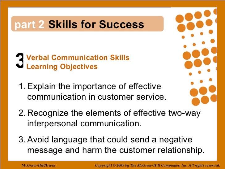 3 2 <ul><li>Explain the importance of effective communication in customer service. </li></ul><ul><li>Recognize the element...