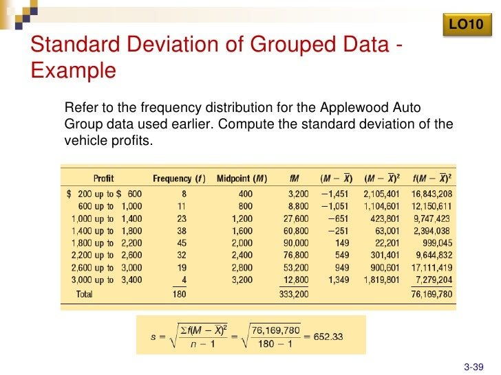 Chap003 lo10the arithmetic mean of grouped data example 3 38 39 lo10standard deviation ccuart Image collections