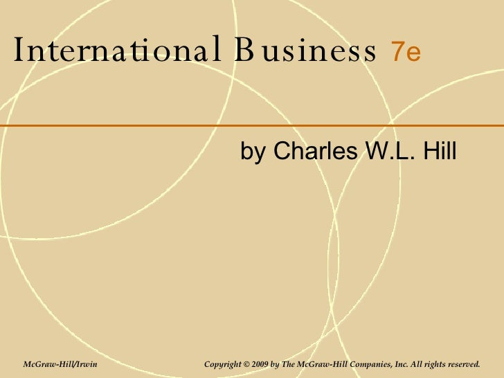International Business By Charles Hill 10th Edition Pdf