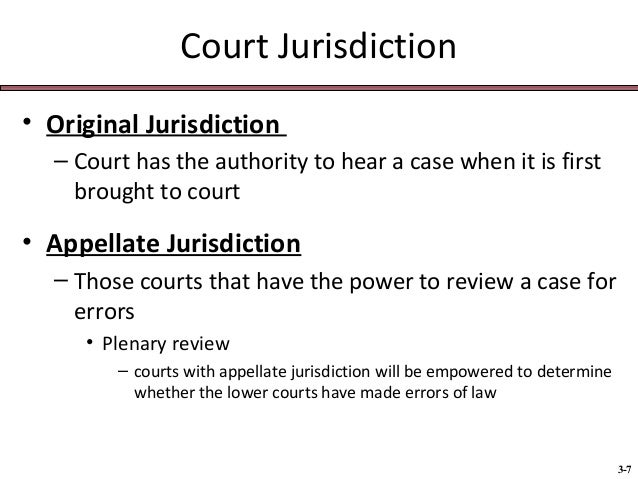 what is the difference between original jurisdiction and appellate jurisdiction