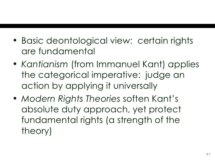A Personal View On Immanuel Kants Categorical Imperative Research