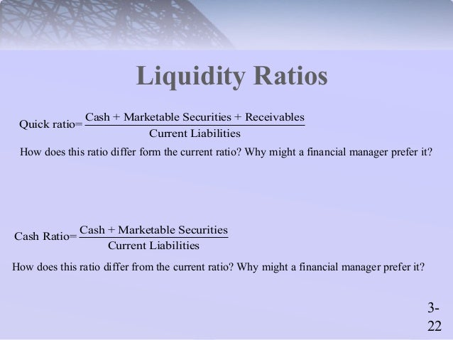 How Do the Current Ratio and Quick Ratio Differ?