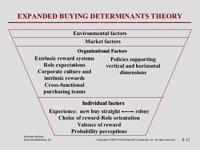 EXPANDED BUYING DETERMINANTS THEORY                               Environmental factors                                   ...