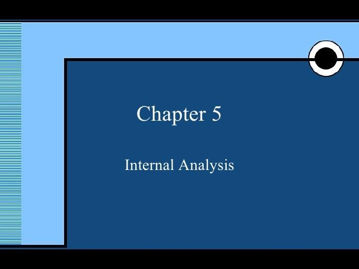 Chapter 5 Internal Analysis