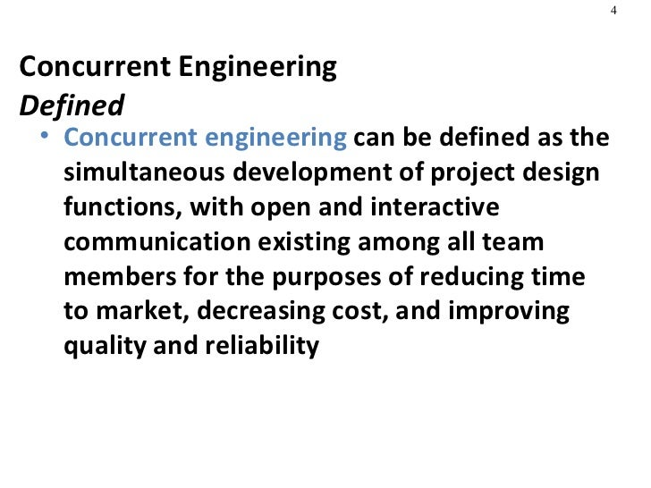 Concurrent Engineering Team : Product design process selection manufacturing
