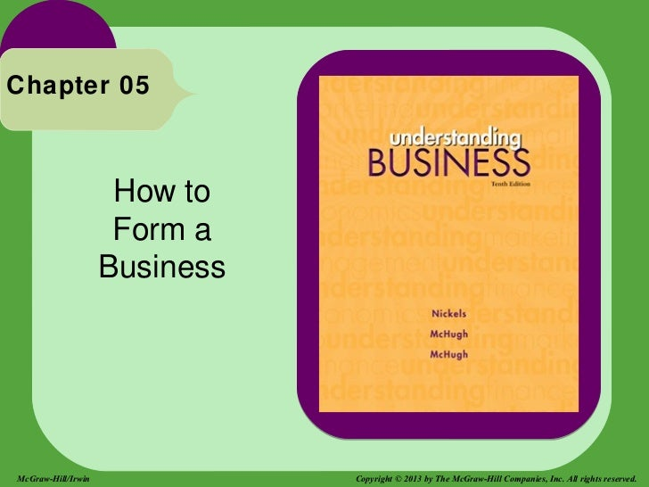 Chapter 05                     How to                     Form a                    BusinessMcGraw-Hill/Irwin             ...
