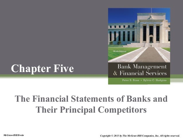 McGraw-Hill/Irwin Copyright © 2013 by The McGraw-Hill Companies, Inc. All rights reserved. Chapter Five The Financial Stat...