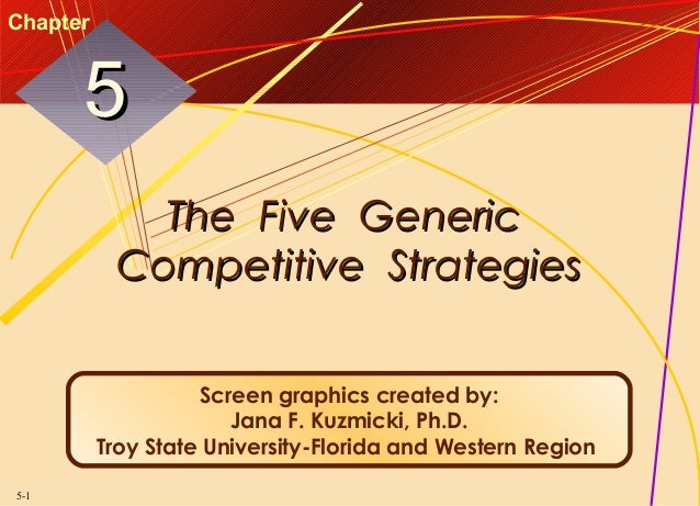 Chapter  5 The Five Generic Competitive Strategies Screen graphics created by: Jana F. Kuzmicki, Ph.D. Troy State Universi...