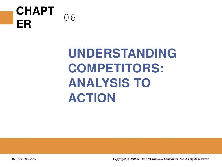 06<br />Understanding Competitors: Analysis to Action<br />Copyright © 2010 by The McGraw-Hill Companies, Inc. All rights ...