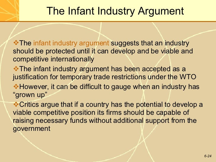 infant industry argument 3rd international conference on social sciences economics and finance on 26th - 27th august 2017, in montreal, canada isbn: 9780998900032 49 infant industry argument: theoretical.