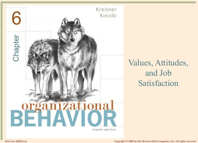 Chapter © 2008The McGraw-Hill Companies, Inc. All rights reserved. Values, Attitudes, and Job Satisfaction 6 McGraw-Hill/I...