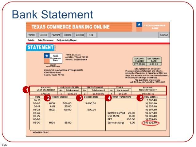 Bank Statement 1 2 3 4 5 6-20