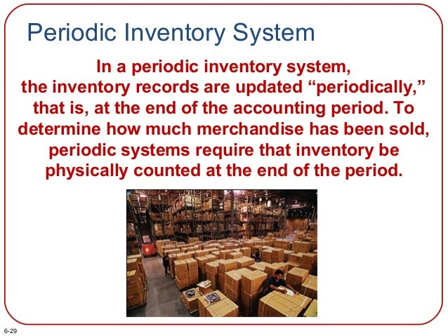 """Periodic Inventory System In a periodic inventory system, the inventory records are updated """"periodically,"""" that is, at th..."""