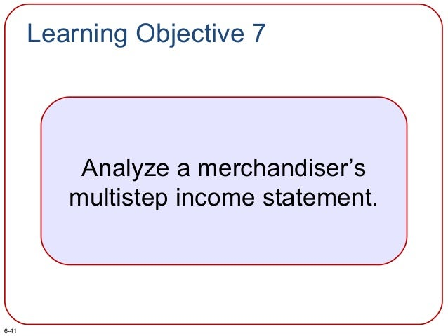 Learning Objective 7 Analyze a merchandiser's multistep income statement. 6-41