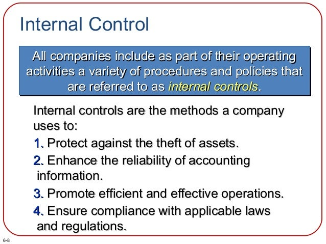 Internal Control All companies include as part of their operatingAll companies include as part of their operating activiti...