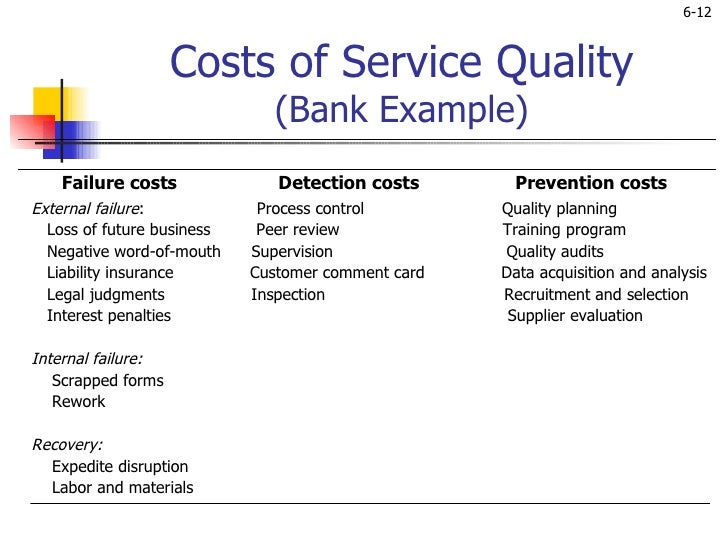 SERVICE QUALITY: A LITERATURE REVIEW