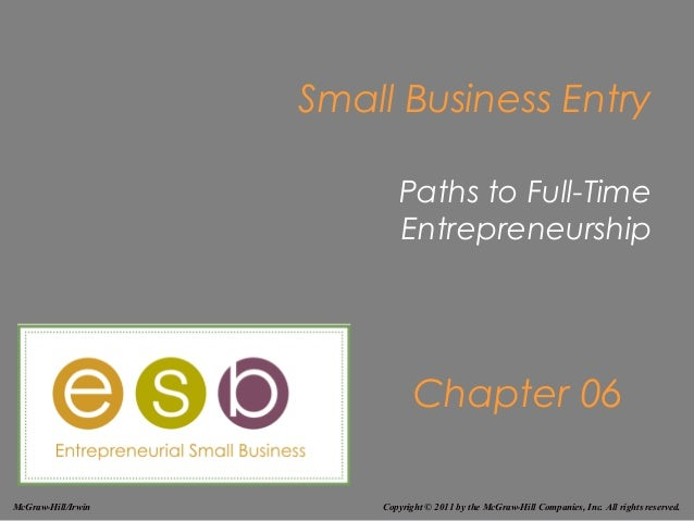 Small Business Entry                           Paths to Full-Time                           Entrepreneurship              ...