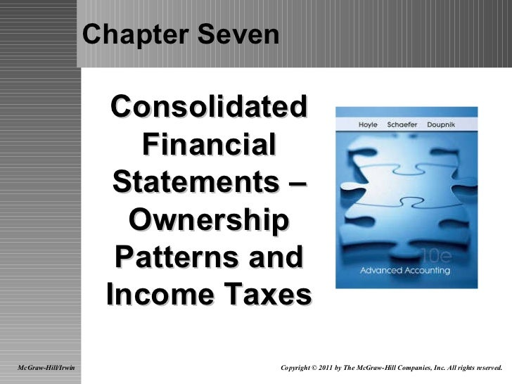 Chapter Seven Consolidated Financial Statements – Ownership Patterns and Income Taxes McGraw-Hill/Irwin Copyright © 2011 b...