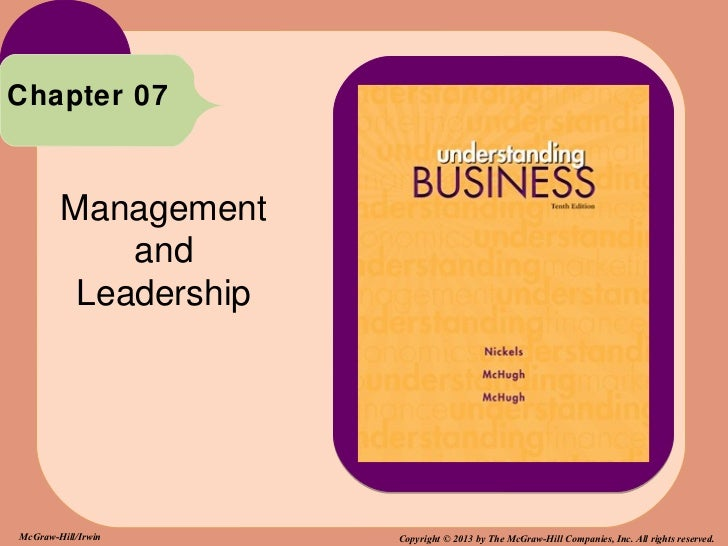 Chapter 07        Management            and         LeadershipMcGraw-Hill/Irwin     Copyright © 2013 by The McGraw-Hill Co...