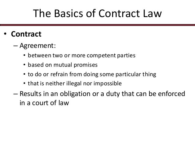 BUS 115 Chap007 contract law essentials – Legal Agreements Between Two Parties