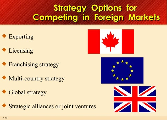 competing in foreign markets What are some of the special features of competing what are some of the special features of competing in foreign markets.