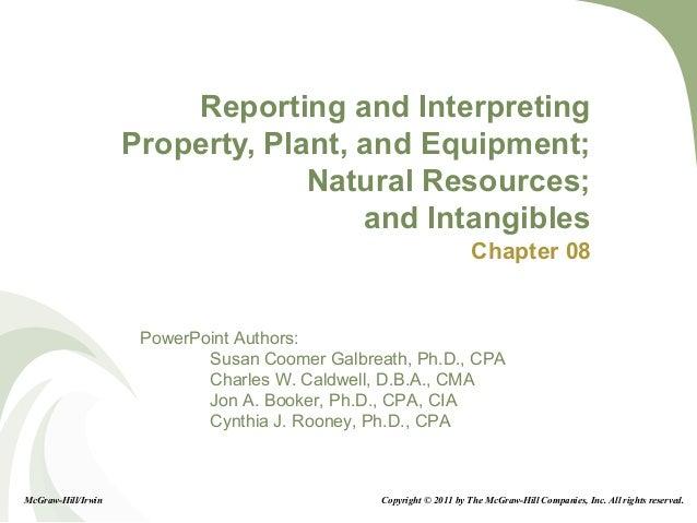 8-1 PowerPoint Authors: Susan Coomer Galbreath, Ph.D., CPA Charles W. Caldwell, D.B.A., CMA Jon A. Booker, Ph.D., CPA, CIA...