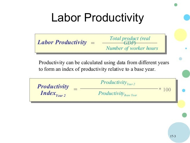 labor productivity Annual statistics on growth in labour productivity and related variables for the total economy are available at growth in gdp per capita, productivity and ulc.