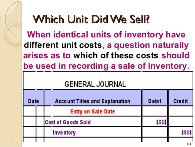 Cost Of Goods Sold Debit Or Credit