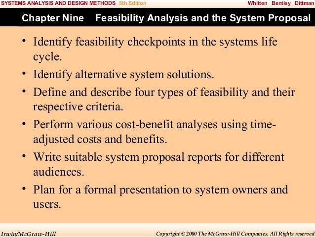 system analysis and design system proposal A proposal to implement a monitoring and control system accomplished with a number of monitor points that would allow analysis of the unit's performance a second business goal is to design the system to be adaptable to any platform.