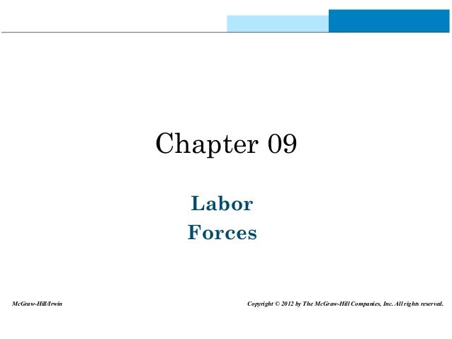 Chapter 09 Labor Forces McGraw-Hill/Irwin Copyright © 2012 by The McGraw-Hill Companies, Inc. All rights reserved.