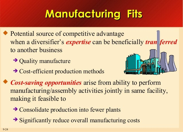 Manufacturing Fits  Potential source of competitive advantage  when a diversifier's expertise can be beneficially transfe...