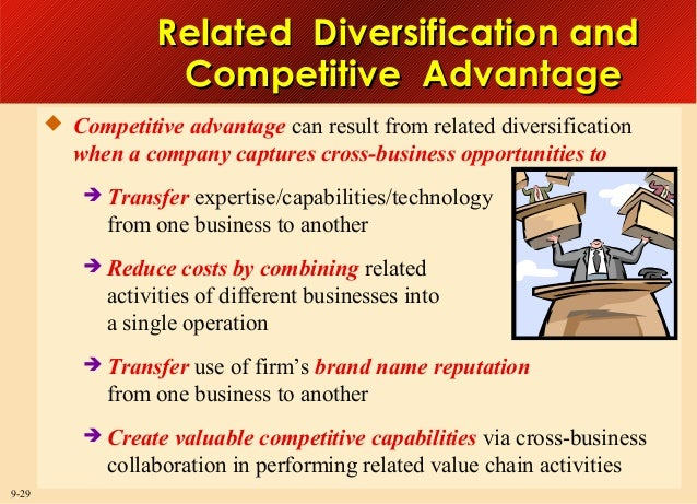 Related Diversification and Competitive Advantage  Competitive advantage can result from related diversification  when a ...