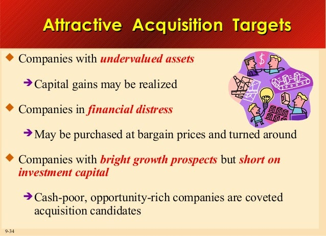 Attractive Acquisition Targets  Companies with undervalued assets  Capital  gains may be realized   Companies in financ...
