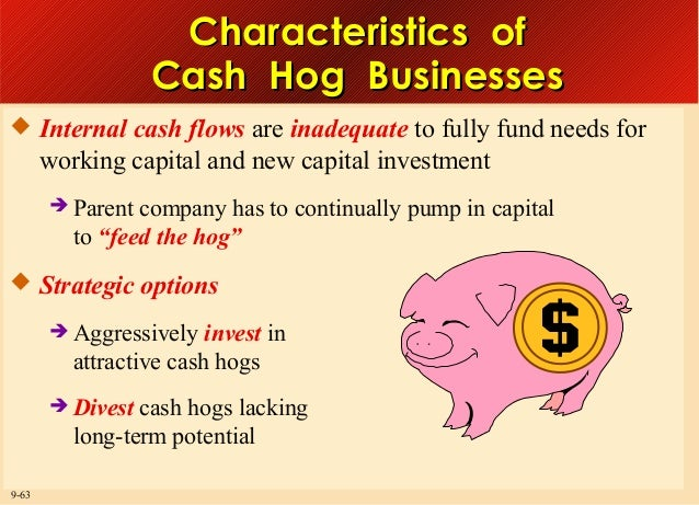 Characteristics of Cash Hog Businesses  Internal cash flows are inadequate to fully fund needs for  working capital and n...
