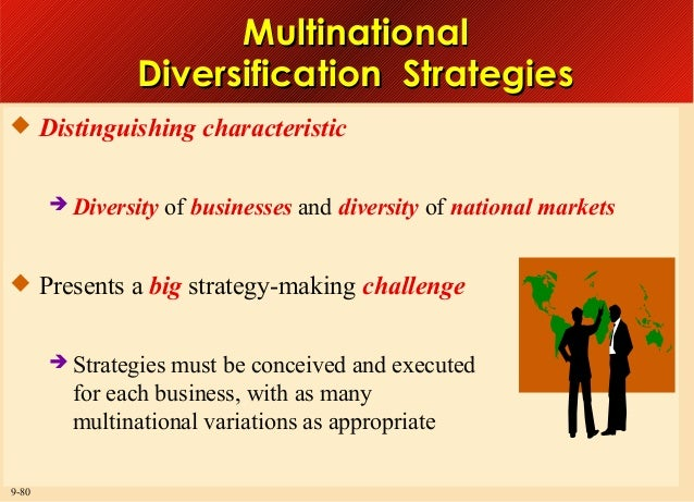 Multinational Diversification Strategies  Distinguishing characteristic  Diversity  of businesses and diversity of natio...