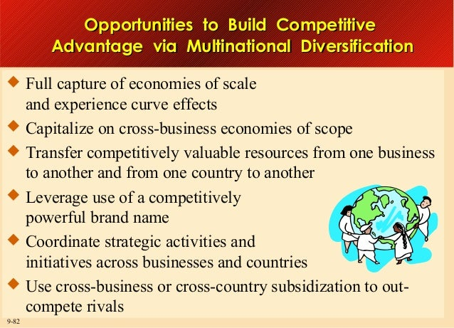Opportunities to Build Competitive Advantage via Multinational Diversification  Full capture of economies of scale  and e...