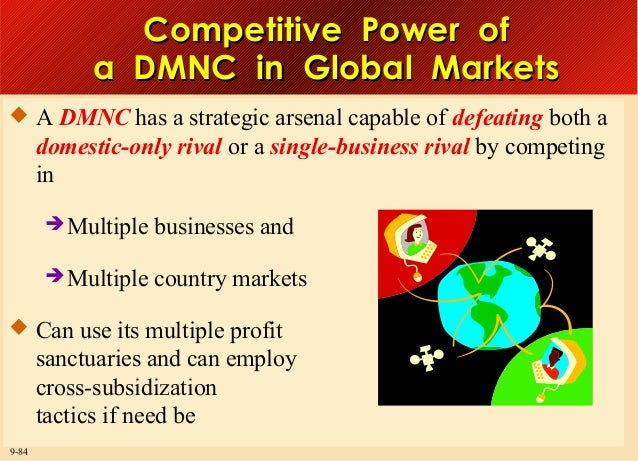 Competitive Power of a DMNC in Global Markets  A DMNC has a strategic arsenal capable of defeating both a  domestic-only ...