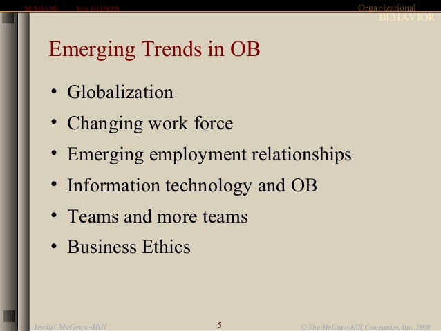 Trends in Organizational Behavior