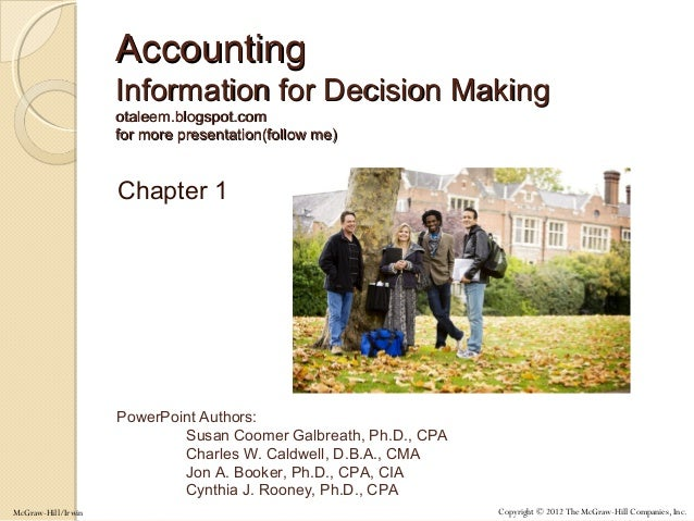Accounting for Management Decision-Making