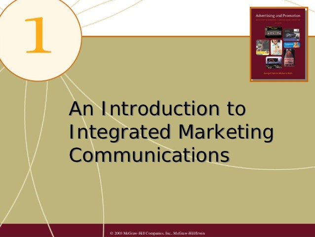 An Introduction toIntegrated MarketingCommunications    © 2003 McGraw-Hill Companies, Inc., McGraw-Hill/Irwin