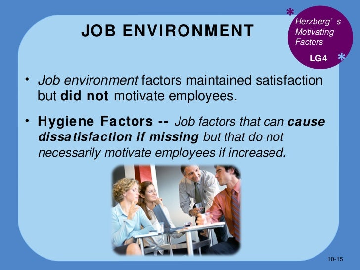 factors involved in motivating employees Herzberg's theory of motivation 1 i introduction people (employees) are to an organization the most valuable asset therefore, management of people in the workplace is the fundamental part of any of all management process.