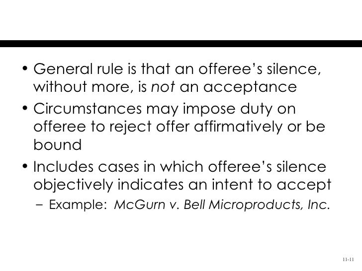 silence is not acceptance