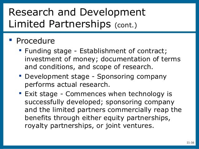 11-16 Procedure Funding stage - Establishment of contract;investment of money; documentation of termsand conditions, and...