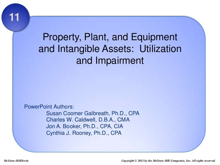 11                     Property, Plant, and Equipment                    and Intangible Assets: Utilization               ...
