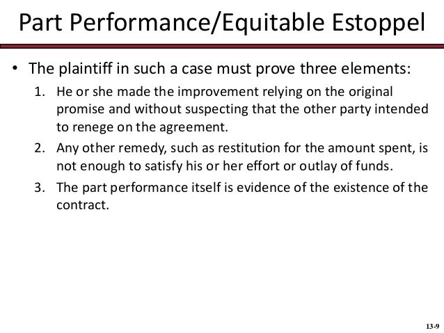 Proprietary and Equitable Estoppel